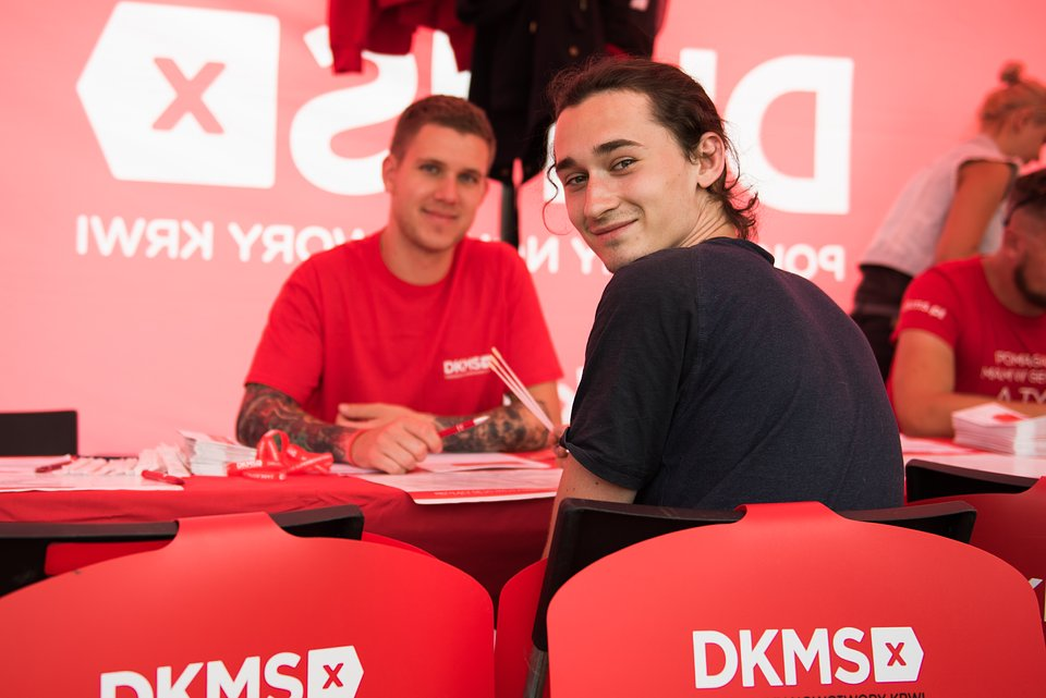 DKMS donor registration at Pol'and'Rock Festival. photo by Marta Szpakowska