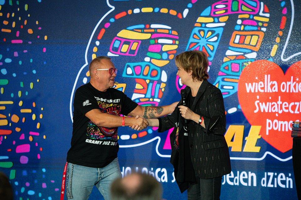 Jurek Owsiak i Hanna Zdanowska, fot. Grzegorz Adamek