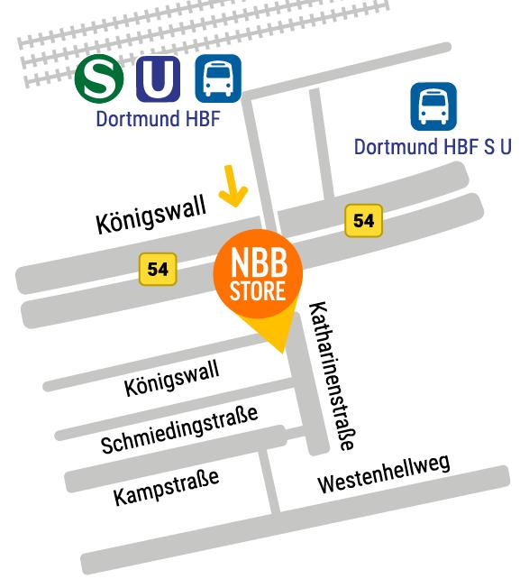 Anfahrt notebooksbilliger.de Store Dortmund