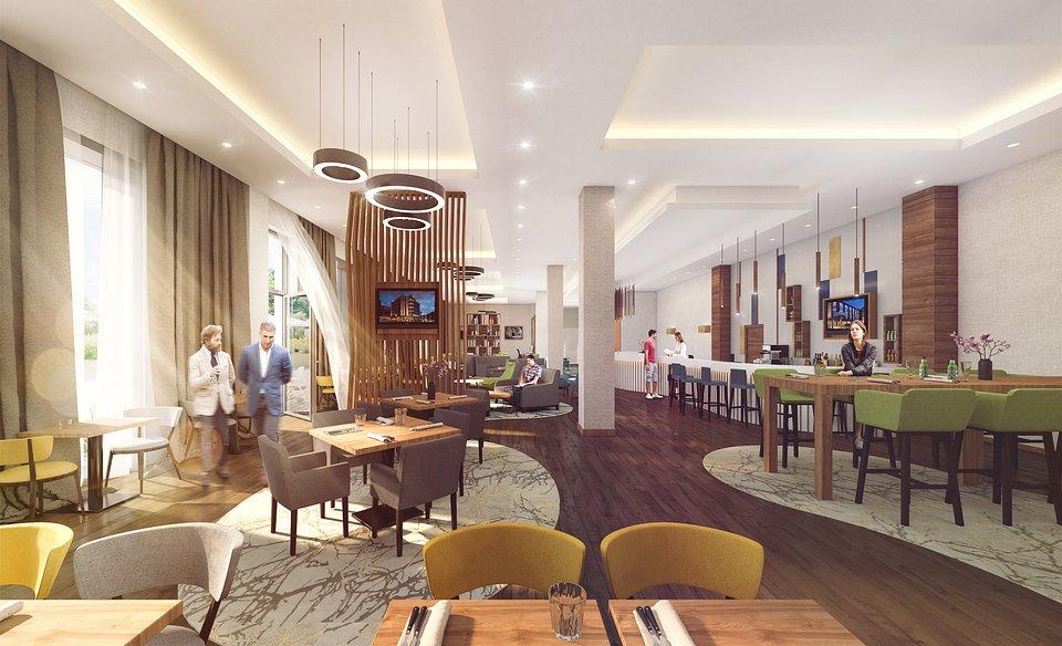 Wizualizacja wnętrz hotelu fot. ANTCZAK Investments