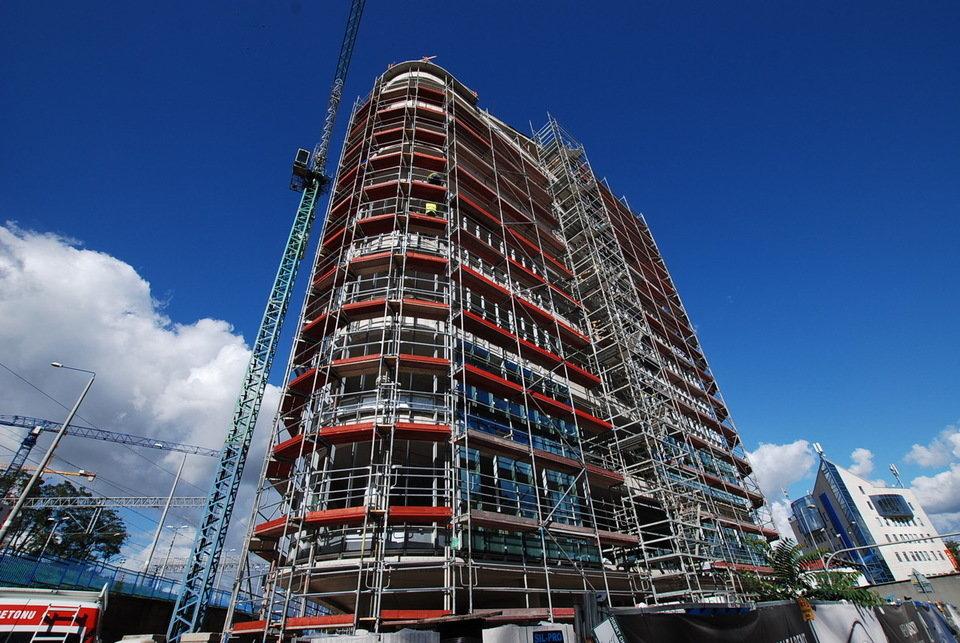 SQ Business Center - zdjęcia z budowy (październik) 1