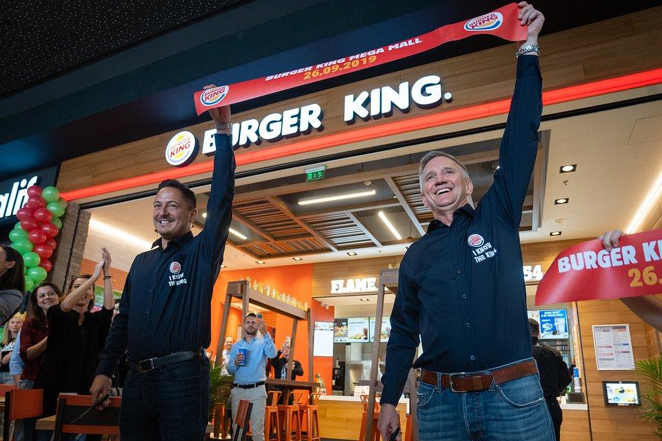 Daniel Ryška i Allan Laughlin (Burger King Brand President)
