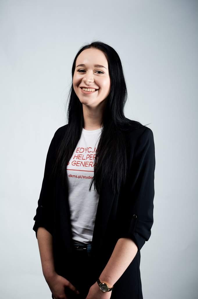 Zuzanna Rzemek - studencka Liderka projektu HELPERS' GENERATION