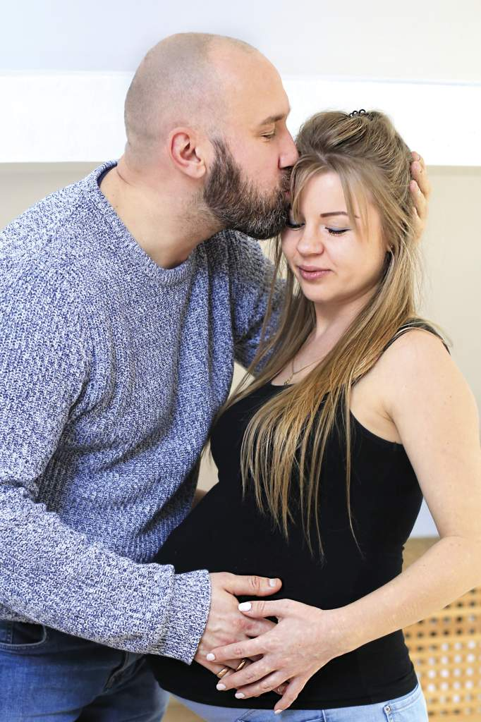 Rafał z żoną Karoliną