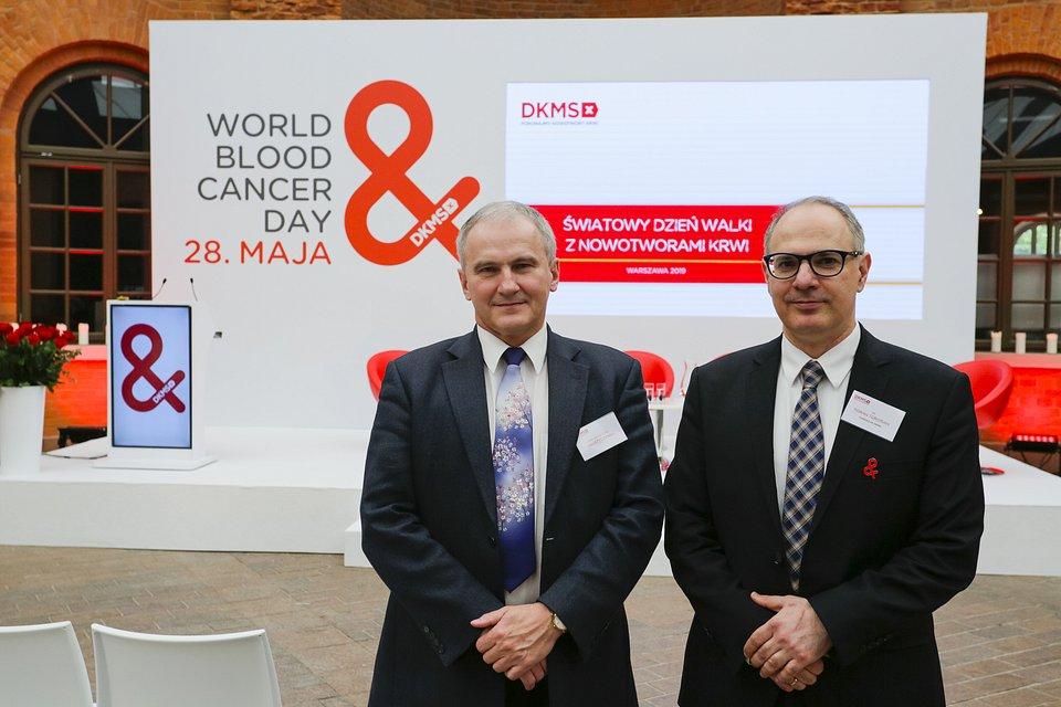 Prof. dr hab. n. med. Jan Styczyński, Konsultant krajowy w dziedzinie onkologii i hematologii dziecięcej oraz dr Tigran Torosian, hematolog, Dyrektor Medyczny Fundacji DKMS
