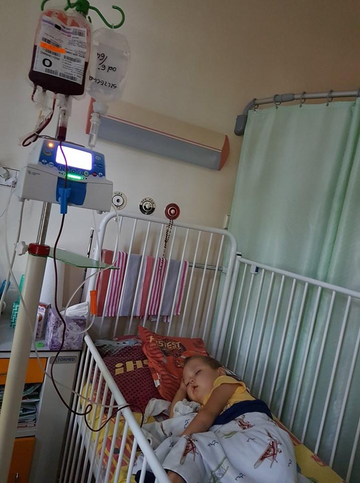 Szymek w szpitalu