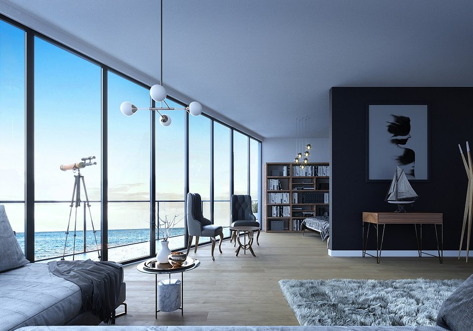 Wave Apartments_wizualizacja apartamentu
