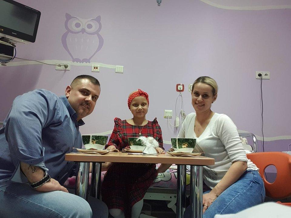 Maja z rodzicami