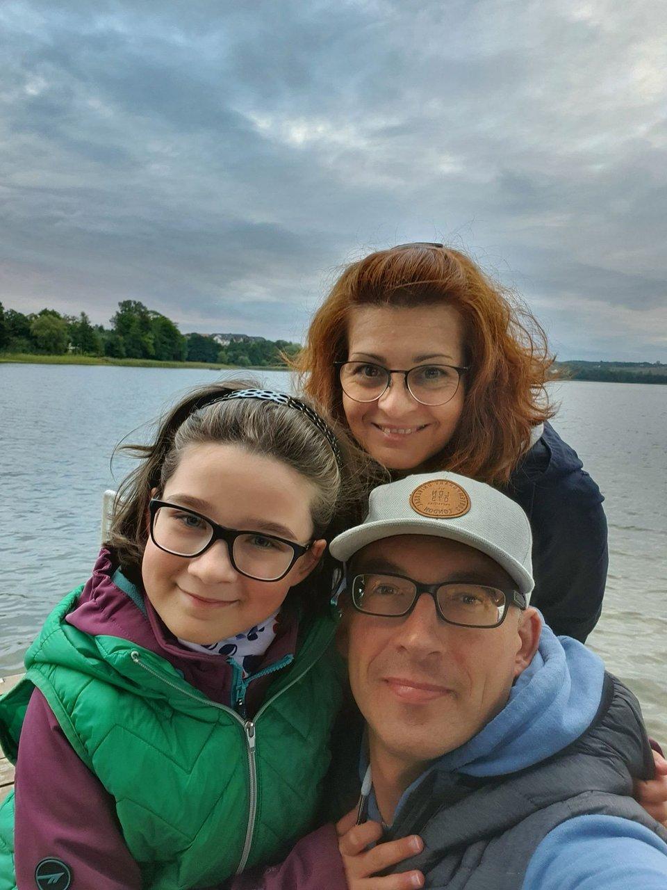 Milenka z rodzicami