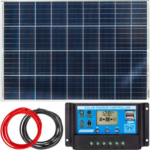 Przykładowy, mały zestaw solarny.