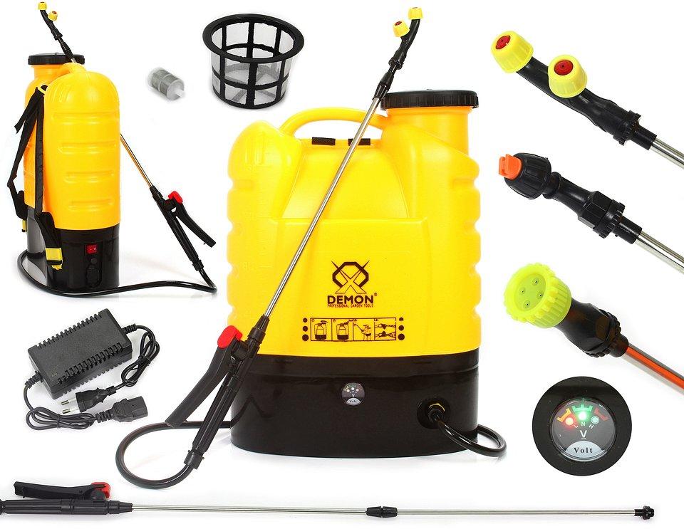 Opryskiwacz akumulatorowy, plecakowy wraz z zestawem akcesoriów, fot. Tooles.pl