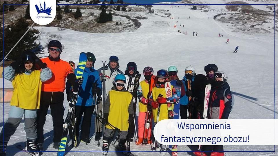 Obóz narciarski we Włoszech organizowany przez Fundację Język i Nauka