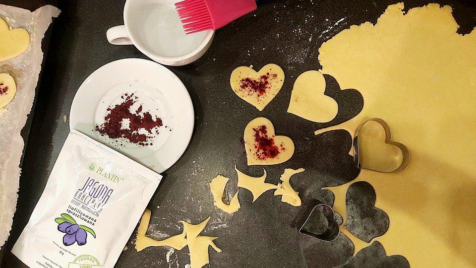 Kruche ciasteczka ze sproszkowanym liofilizatem. Zdjęcie: Plantin