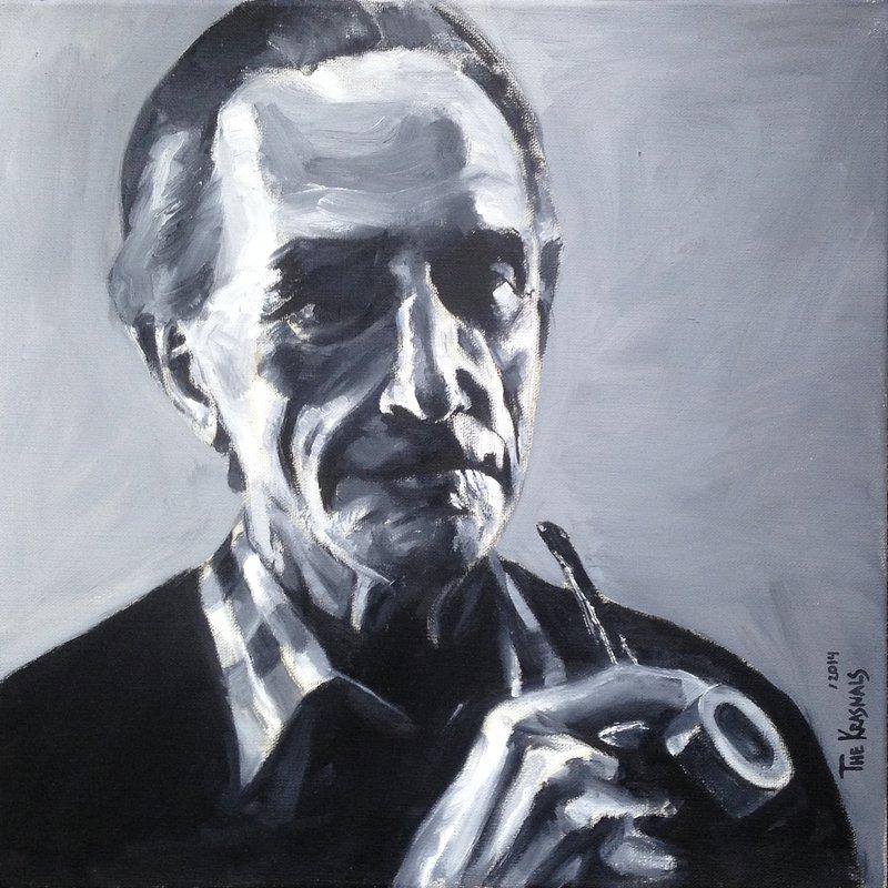 The Krasnals, Marcel Duchamp, z cyklu GoodFellas, 2014, olej na płótnie, 45 x 45 cm.jpg
