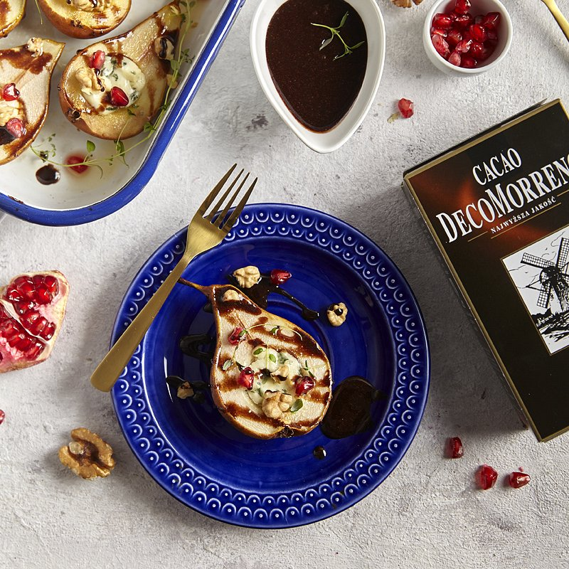 pieczone gruszki z gorgonzolą i sosem kakaowym 2.jpg