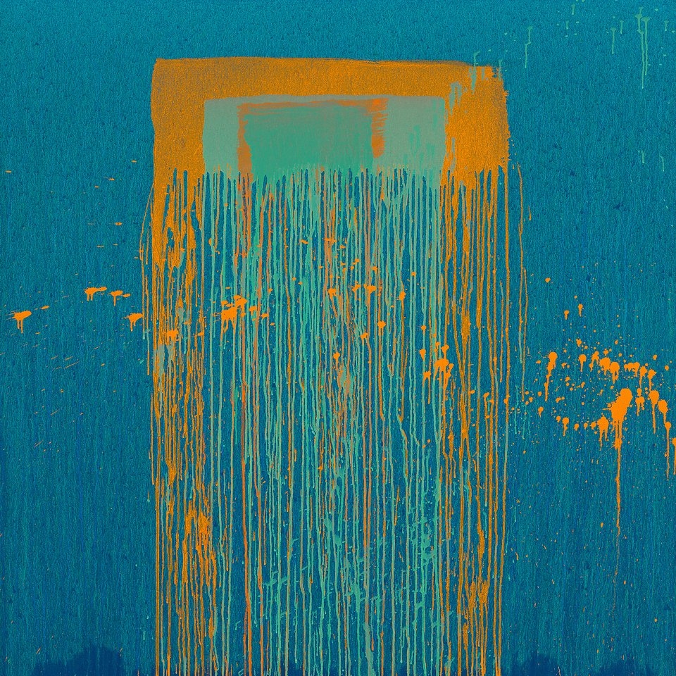 Okładka Sunset In The Blue. Autor: Pat Steir, Untitled IX, 2019 (Taipei), 2019. Olej na płótnie.  © Pat Steir. Dzięki uprzejmości artysty oraz Lévy Gorvy, Nowy Jork. Zdjęcie: Tom Powel Imaging