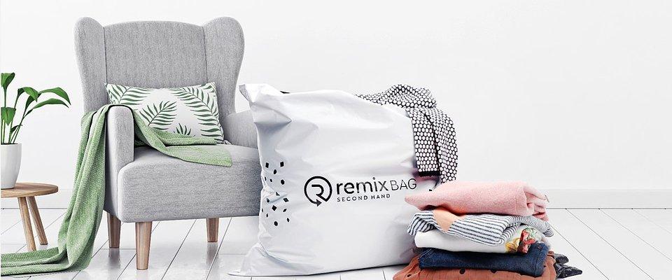 Zmówi darmową torbę Remix, wypełnij ją ubraniami do oddania i odeślij na koszt sklepu / fot. remixshop.com
