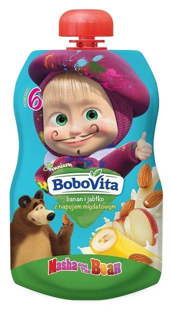 BoboVita banan i jabłko z napojem migdałowym po 6. miesiącu życia