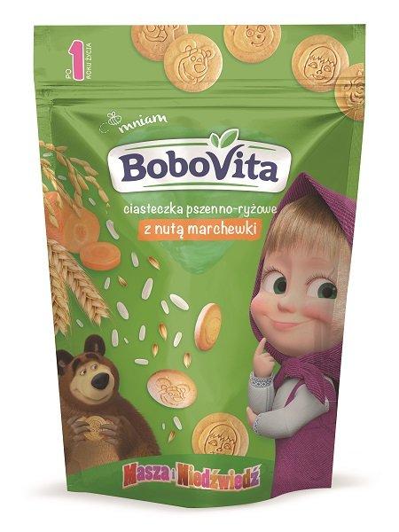BoboVita ciasteczka pszenno-ryżowe z nutą marchewki po 1. roku życia