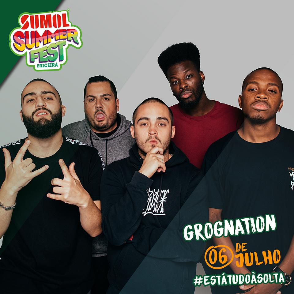 GROGNation 6 de julho no Sumol Summer Fest