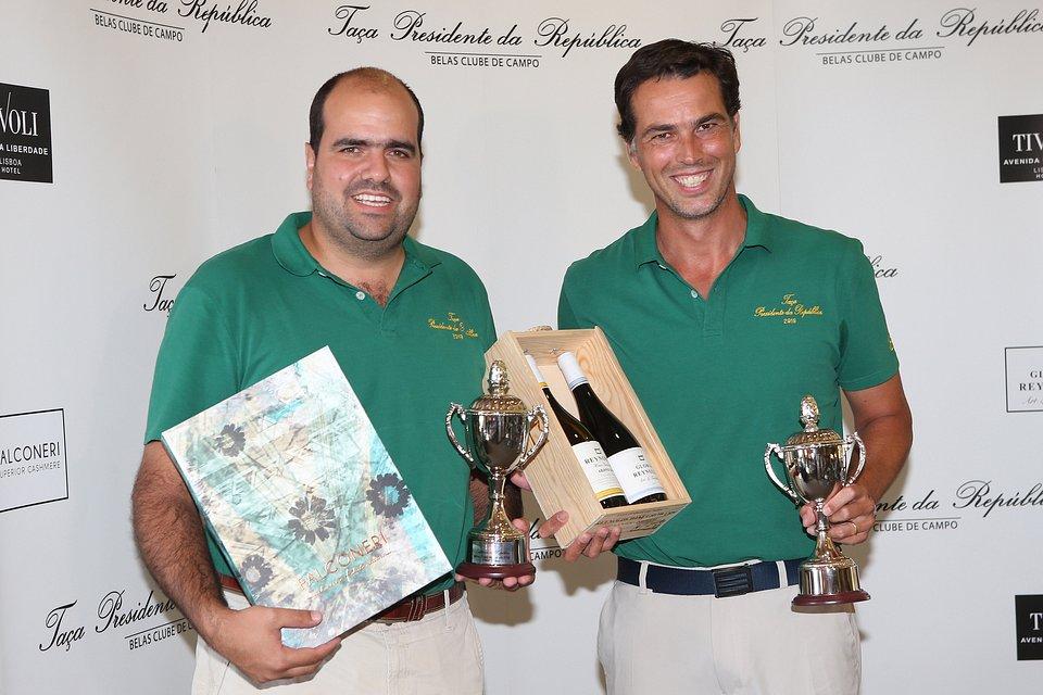 Os vencedores desta edição, António Mendonça Alves e Tomás Moreno