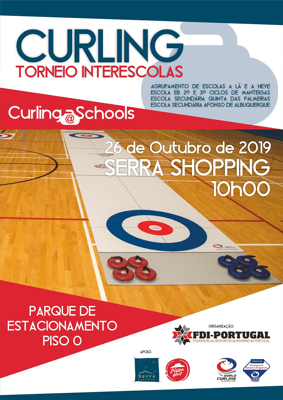 O Torneio de Curling Interescolas realiza-se no dia 26 de outubro a partir das 10h