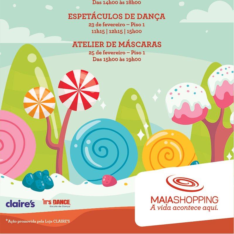 De 21 a 25 de fevereiro, atividades de Carnaval no MaiaShopping
