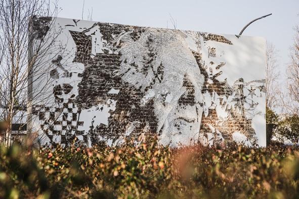 Mural de homenagem a Fernando Guedes, na sede da Sogrape