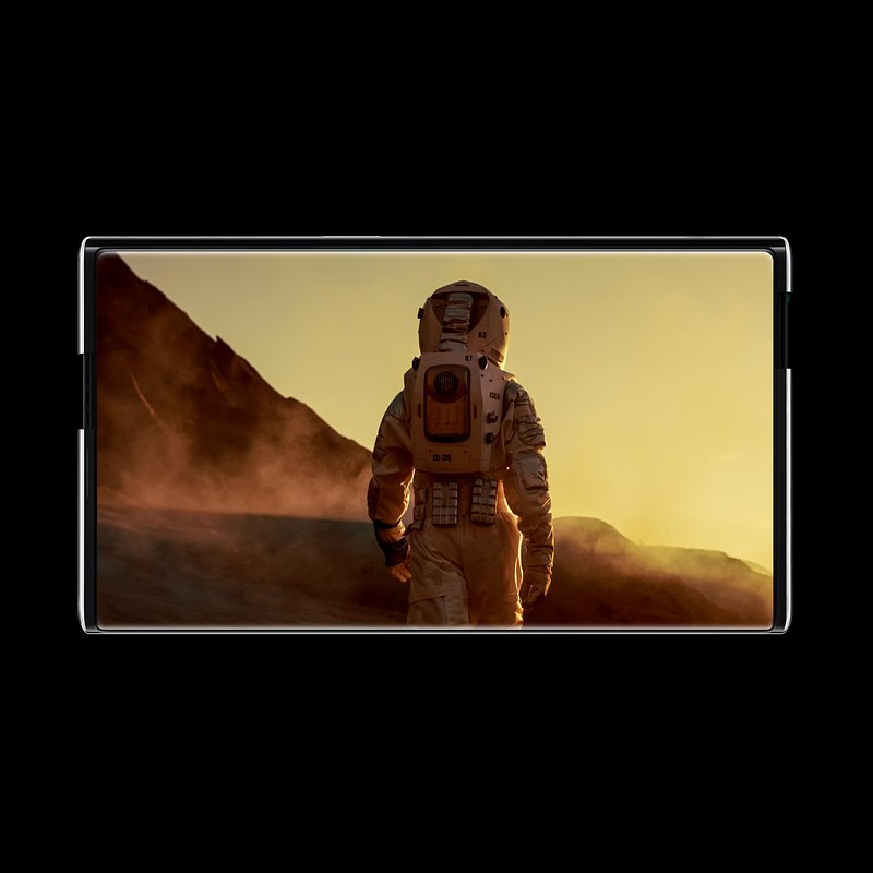 OPPO X 2021 Rollable Concept Handset_Watching movie.jpg