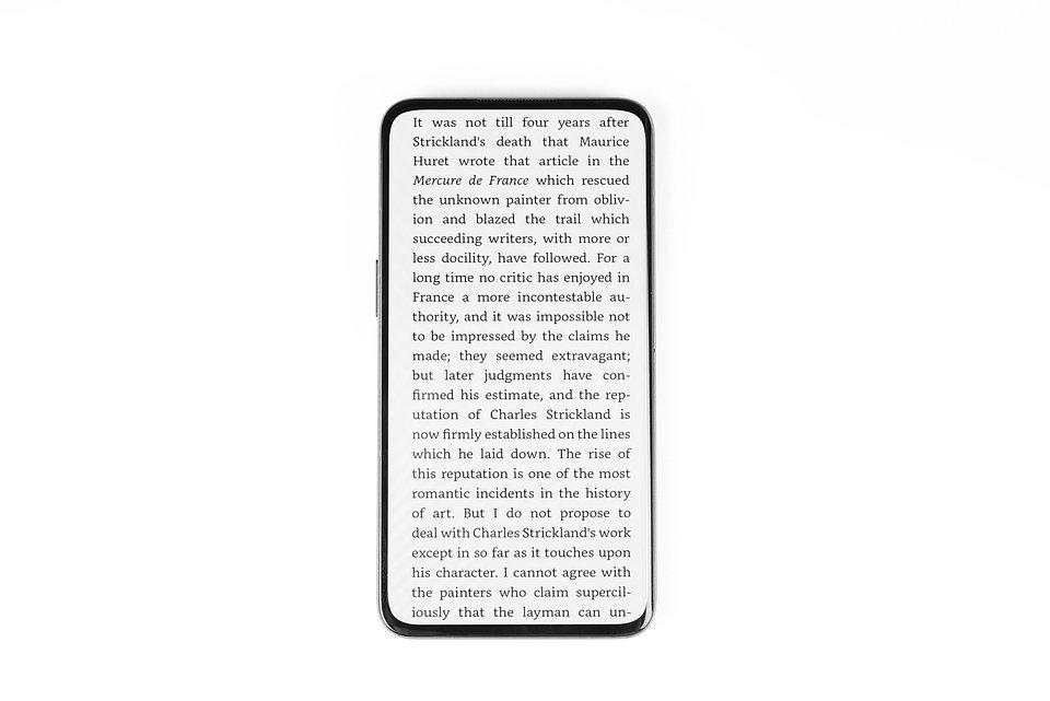 Czytanie e-booków na pełnym ekranie
