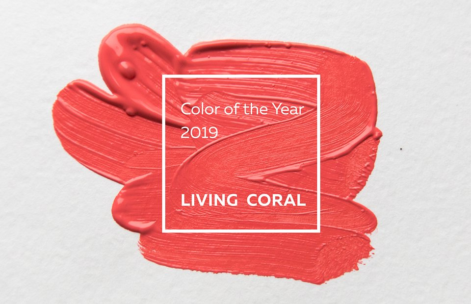 Kolor Roku 2019 - Living Coral według Pantone Color Institute.