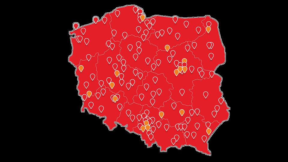 Sieć sklepów KOMFORT w całej Polsce. W 2018 r. otworzono 18 nowych sklepów. Pełna lista sklepów dostępna na www.komfort.pl