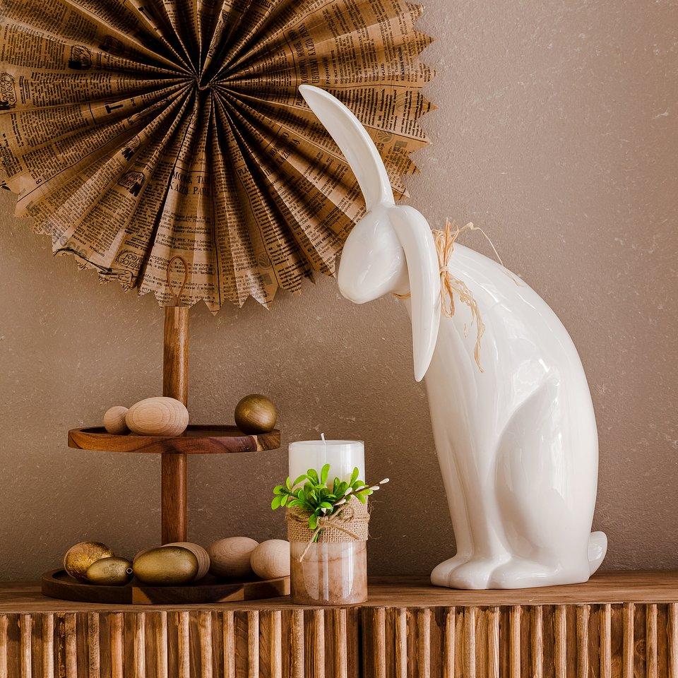 materiały prasowe home&you - patera piętrowa Woodies 2, figurka Coniglio Rafia Big