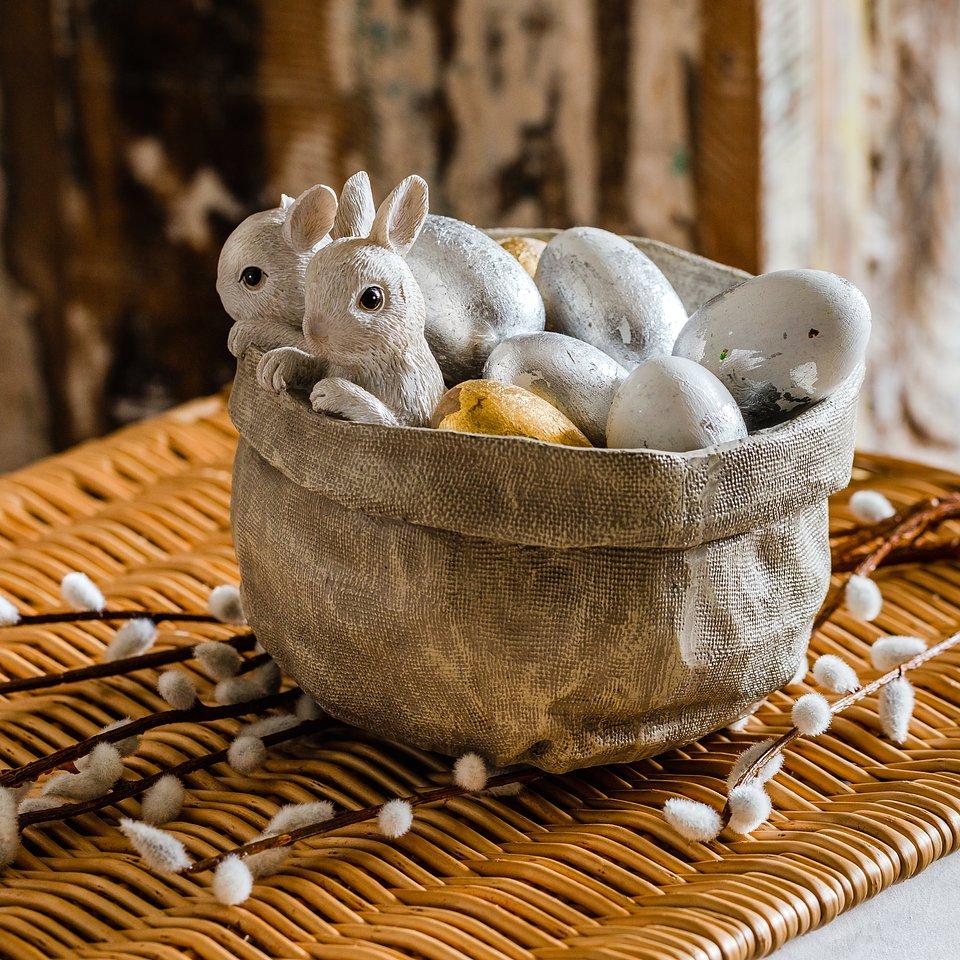 materiały prasowe home&you - misa dekoracyjna Bunny Jute