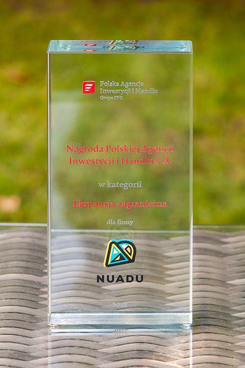 Nagroda Polskiej Agencji Inwestycji i Handlu w kategorii Ekspansja Zagraniczna dla NUADU