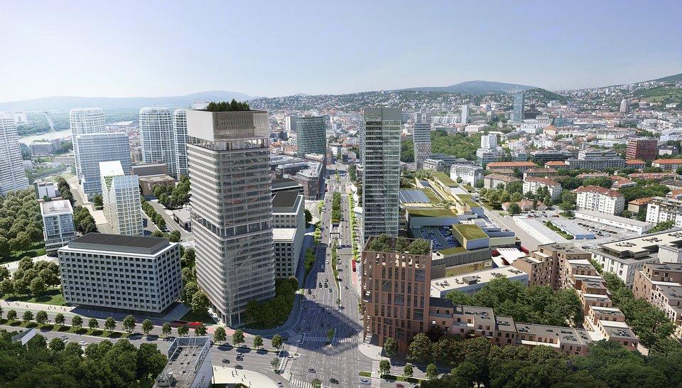 New Nivy Zone in Bratislava CGI