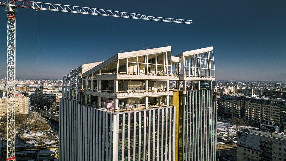 Agora Budapest construction