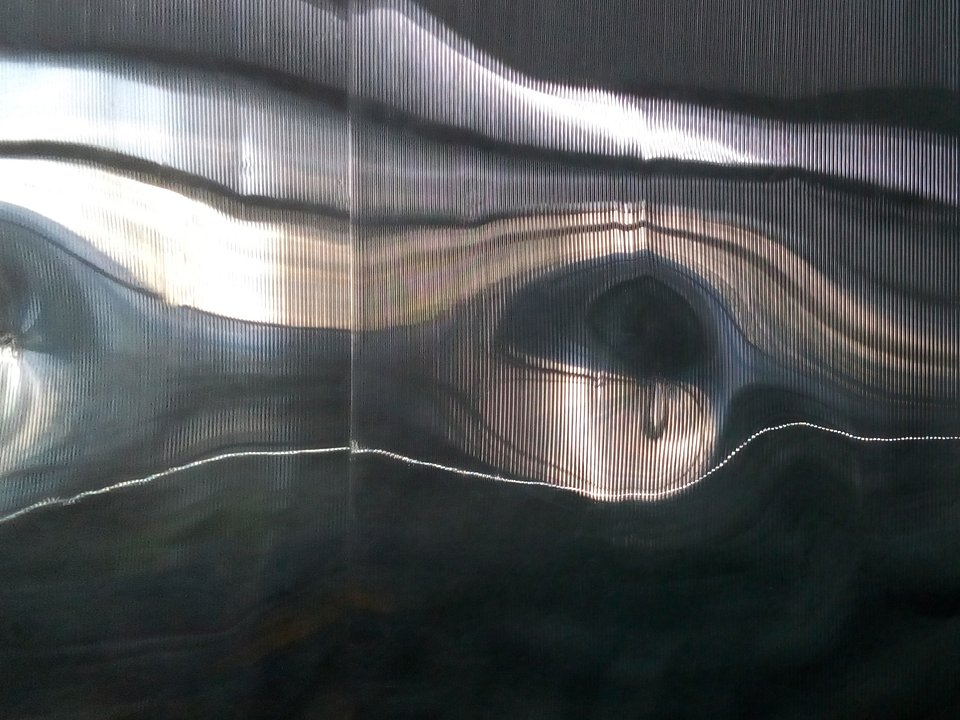 Linea Mobilis, 2017, 120x160 cm, płyta pet
