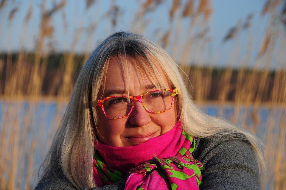To jest pisarka - pani Agnieszka Frączek. Niezwykle miła. I świetnie pisze.