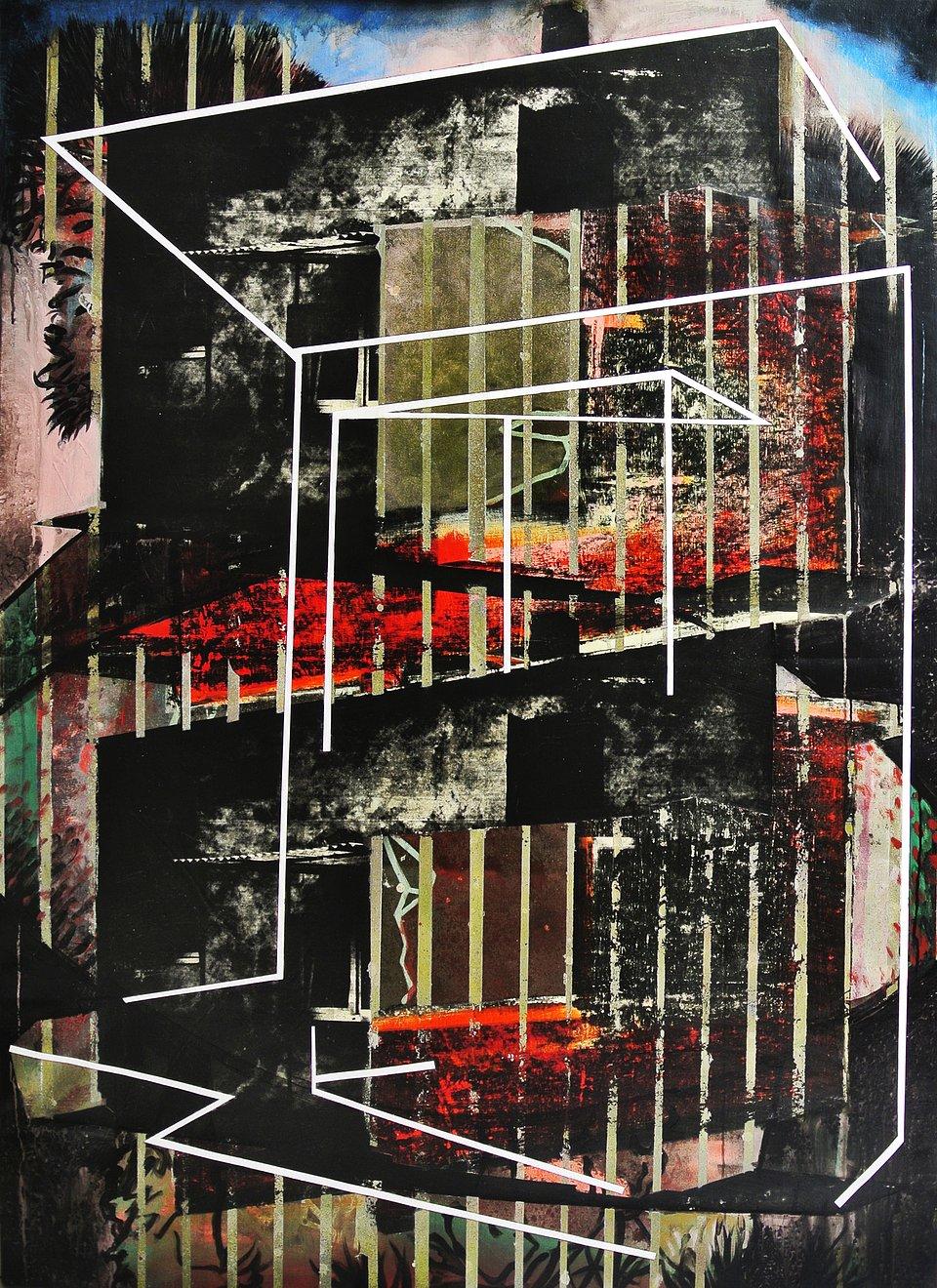 P. Lyjak, Dom III,160x120 cm, technika mieszana na płótnie, 2018.JPG