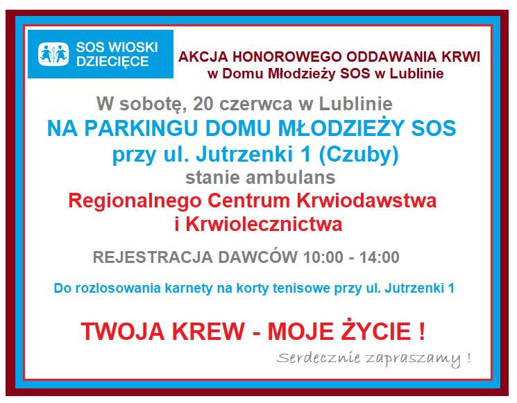 Akcja Honorowego Oddawania Krwi w Lublinie