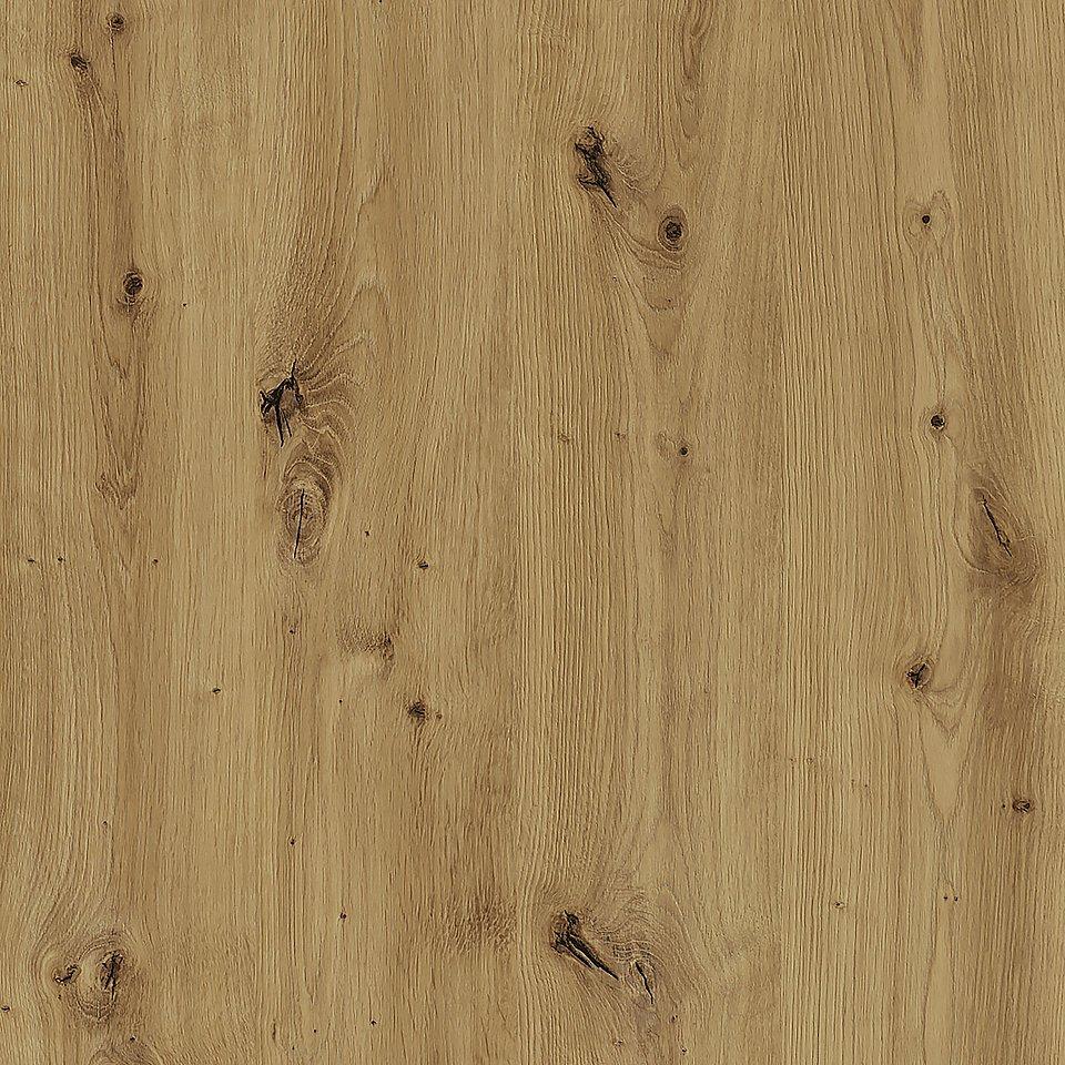 Artisan Oak (R20315) to mocny wzór dębowy ze szpachlowanymi otworami po sękach, który został wzbogacony strukturą Natural Wood, fot. materiały prasowe Pfleiderer