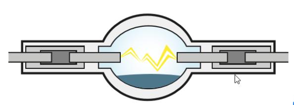 Faza 1 – zapłon – 20 kV pomiędzy elektrodami