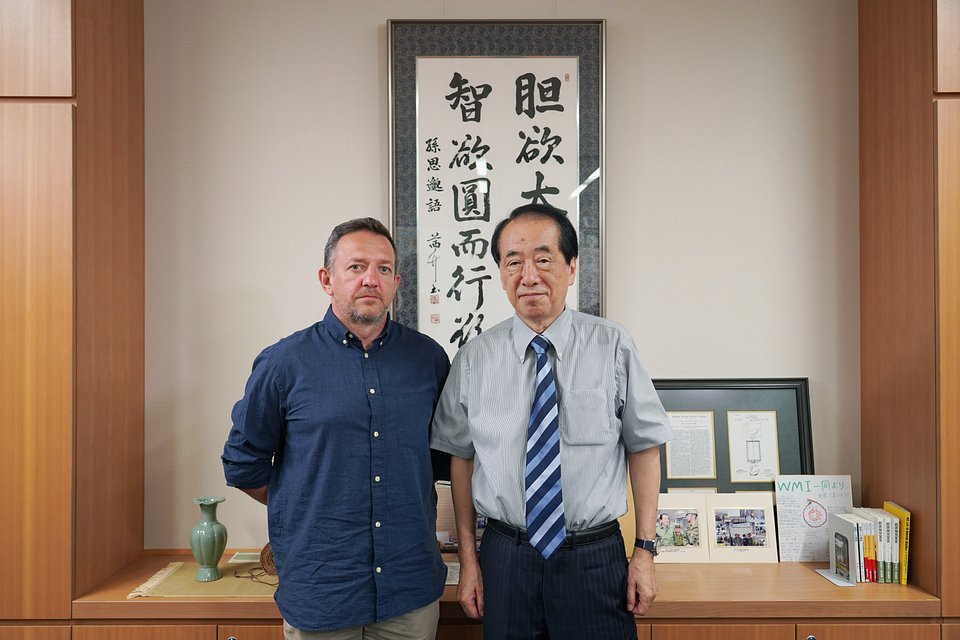 Naoto Kan, Premier Japonii latach 2010-2011, obecnie Parlamentarzysta. To on musiał podjąć się zarządzania kryzysowego w związku z katastrofą w elektrowni. fot.: TVN / Marek Zajączkowski