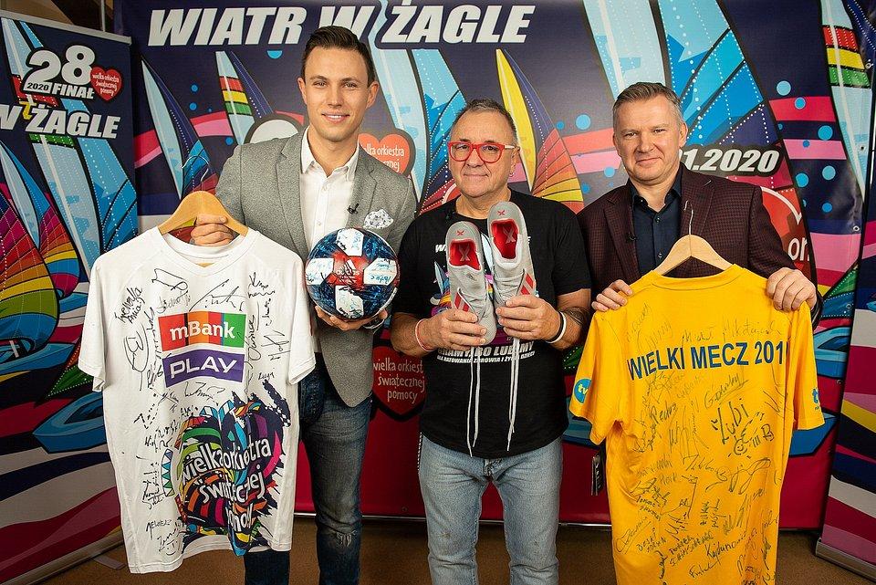 Adrian Mielnik, Jerzy Owsiak i Grzegorz Kajdanowicz; fot. Łukasz Widziszowski