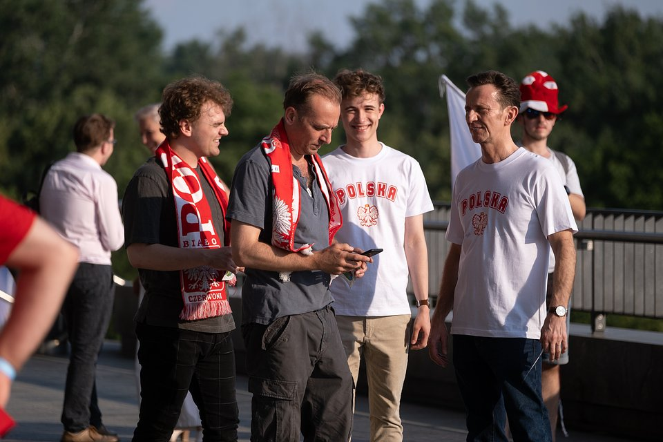 Łukasz Gawroński, Wojciech Mecwaldowski, Maciej Marcin Tomaszewski i Paweł Wilczak; fot. TVN/Piotr Litwic