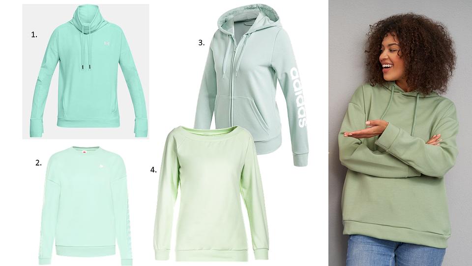 Wszystkie modele dostępne na domodi.pl: 1. Under Armour; 2. Modivo; 3. Adidas; 4. Born2be.