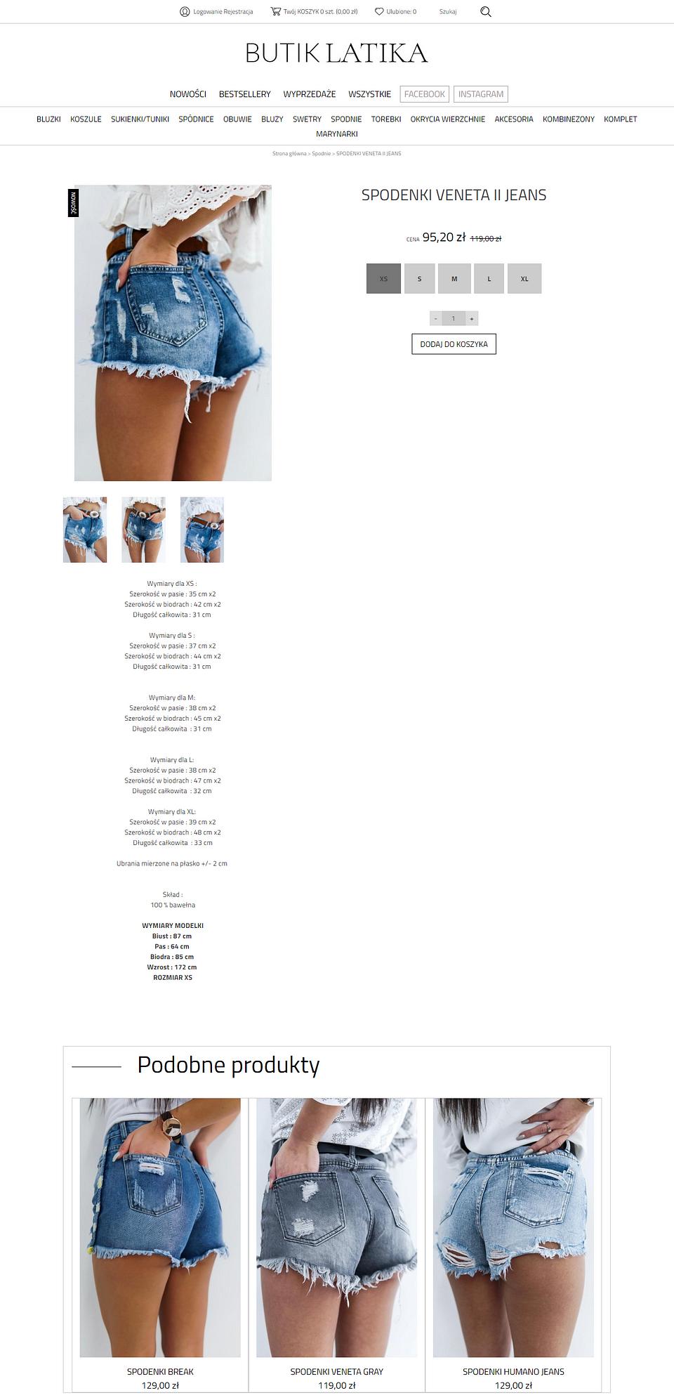 Rozpoznawanie obrazów SaveCart na przykładzie butiklatika.pl, który oferuje modne ubrania dla kobiet.