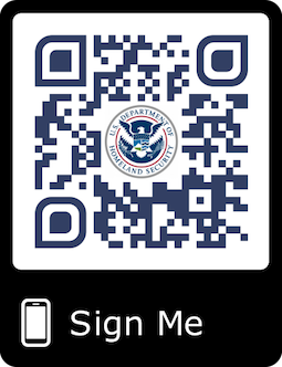 Custom QR codes signed by authorised users