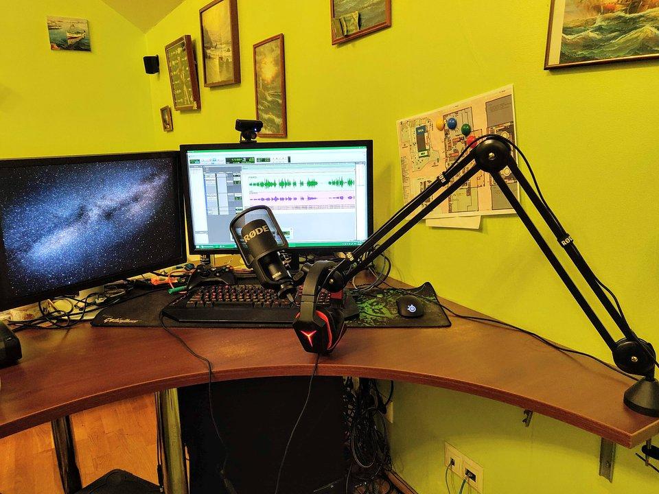 Roman's recording studio.
